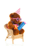 Funny stuffed bear with gifts Stock Image