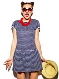 Funny Stylish Fashion Model In Hipster Cloth Stock Images
