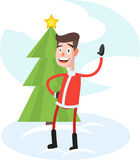 Funny Stylish Santa Stock Photography
