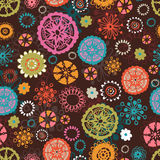 Amusing floral seamless pattern Stock Images