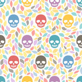 Funny sugar skulls. Seamless Background. Hand drawn vector illus Royalty Free Stock Photos