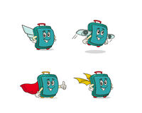 Funny suitcase character Stock Image