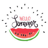 Funny summer hand drawing calligraphy Royalty Free Stock Photos