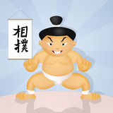Funny sumo wrestler Stock Photography