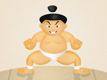 Funny sumo wrestler Royalty Free Stock Images