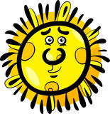 Funny sun cartoon illustration Stock Image