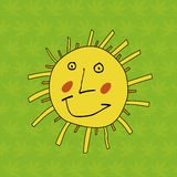 Funny sun | Children's drawing Stock Images