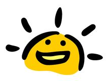 Funny sun Stock Images
