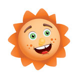 Funny sun face Royalty Free Stock Images