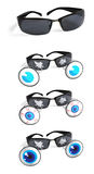 Funny sun glasses. Funny sunglasses with eyeballs popping out Stock Photo
