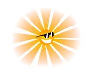 Funny Sun. An illustration of a cool Sun...yeah Stock Photos