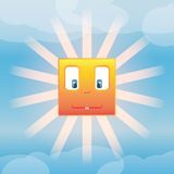 Funny Sun. Made in vector Royalty Free Stock Images