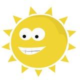Funny sun. Funny smiling sun. Cartoon character - illustration Royalty Free Stock Photos