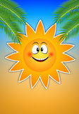 Funny sun for summer time Stock Photos