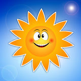 Funny sun for summer time Stock Photo