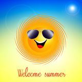 Funny sun for summertime Stock Image