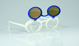 Funny sunglasses. Isolated on white background Royalty Free Stock Photo