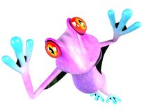 Funny super frog Stock Image