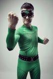Funny superhero fighting Stock Photography
