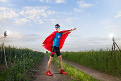 Funny superhero Royalty Free Stock Photography