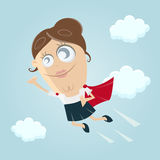 Funny superhero woman clipart. Clipart of a funny superhero woman Stock Photography