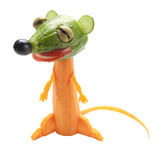 Funny suricate Made of carrot and cucumber Royalty Free Stock Image