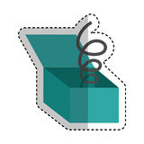 Funny surprise box isolated icon Stock Images