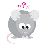 Funny Surprised Mouse Royalty Free Stock Images