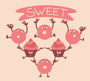 Funny sweets Stock Photography