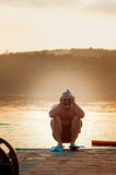Funny swimmer Royalty Free Stock Photo
