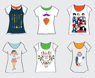 Funny t-shirts designs Royalty Free Stock Images