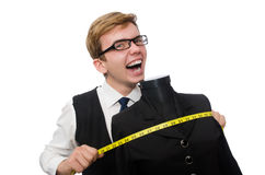 Funny tailor isolated on white Stock Image