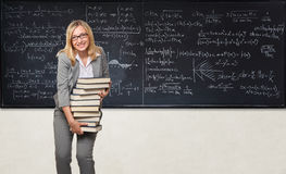 Funny teacher Stock Image