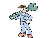 Funny technical worker Royalty Free Stock Photo