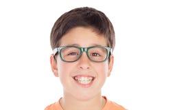 Funny teenage boy of thirteen looking at camera Stock Images