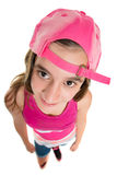 Funny teenage girl wearing a baseball cap Royalty Free Stock Photography