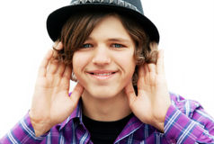 Funny teenager . Royalty Free Stock Photo