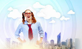 Funny teenager girl Royalty Free Stock Photography