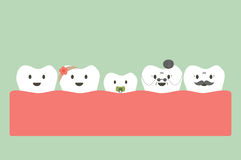 Funny teeth family Stock Images