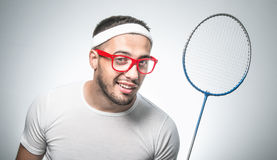 Funny tennis player Royalty Free Stock Photos