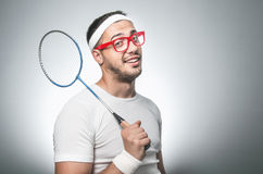 Funny tennis player Stock Photo