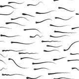 Funny  texture - sperm competition Stock Photography
