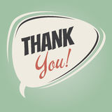 Funny thank you speech bubble Royalty Free Stock Photos