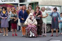 Funny theater company Royalty Free Stock Photos