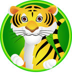 Funny Tiger cartoon Royalty Free Stock Photography
