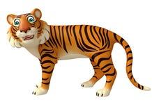 Funny Tiger cartoon character Royalty Free Stock Photos