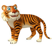 Funny Tiger cartoon character Royalty Free Stock Photo