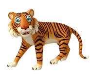 Funny Tiger cartoon character Royalty Free Stock Image