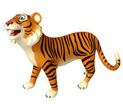 Funny Tiger cartoon character Stock Images