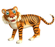 Funny Tiger cartoon character Royalty Free Stock Images